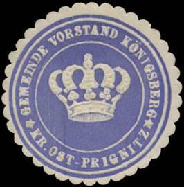 Gemeinde Vorstand Königsberg Kreis Ost-Prignitz