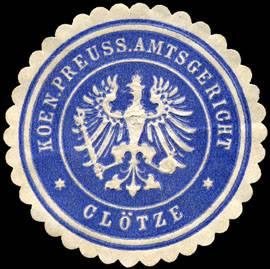 K.Pr. Amtsgericht - Klötze