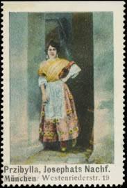 Frau mit Schürze