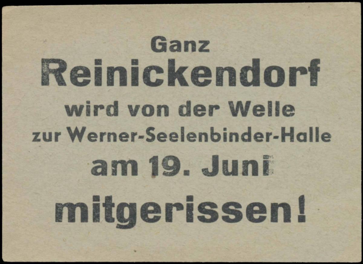 Ganz Reinickendorf wird von der Welle am 19. Juni mitgerissen!