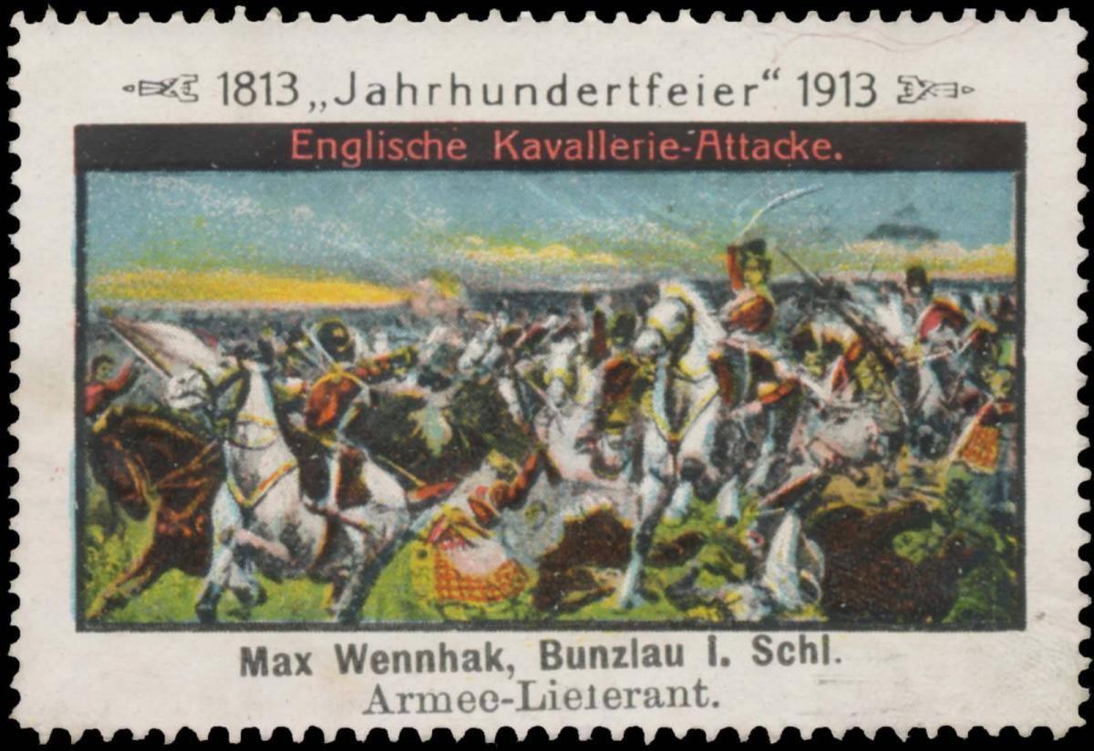 Englische Kavallerie-Attacke