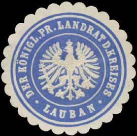 Der K.Pr. Landrat des Kreises Lauban