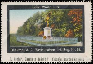 Denkmal d. 2. Nassauischen Infanterie-Regiment Nr. 88