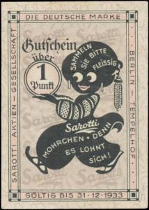 1 Punkt Gutschein Sarotti Mohrchen