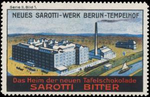 Fabrikansicht neues Sarotti-Werk Berlin-Tempelhof