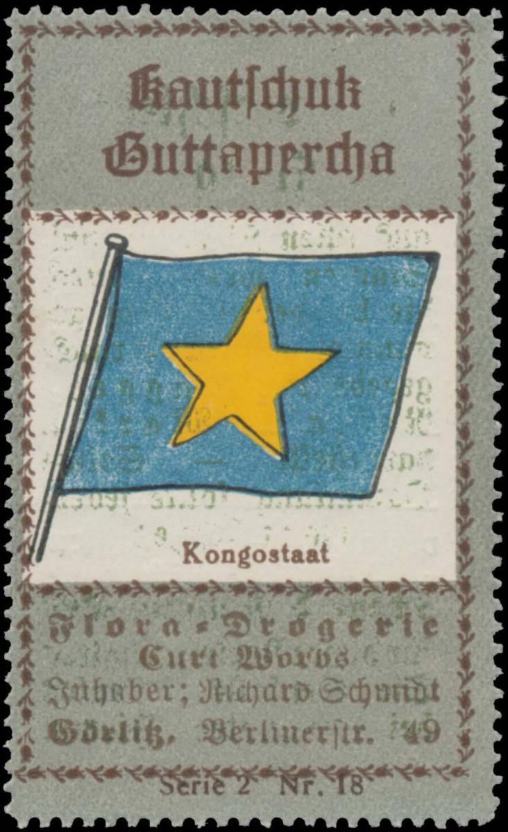 Flagge Kongostaat