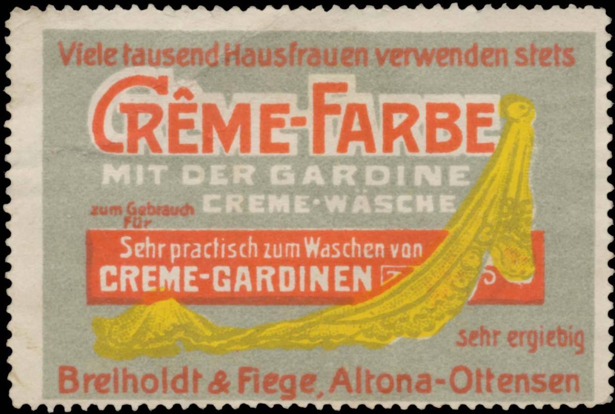Creme-Farbe mit der Gardine Creme-Wäsche