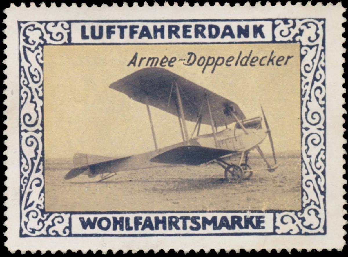 Armee-Doppeldecker Flugzeug