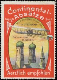 Farman mit Flugzeug über München