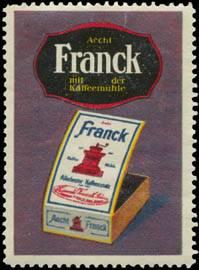 Aecht Franck mit der Kaffeemühle