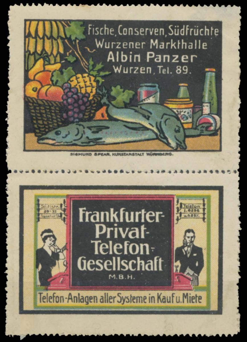 Albin Panzer (Wurzen) + Frankfurter Privat-Telefon-Gesellschaft