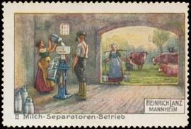 Milch-Separatoren-Betrieb