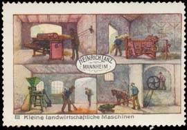 Kleine landwirtschaftliche Maschinen