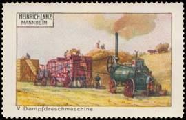 Dampfdreschmaschine