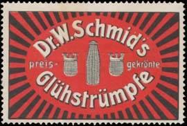 Dr. W. Schmids Glühstrümpfe