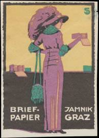 Frau mit Jamnik Briefpapier