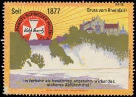 Gruss vom Rheinfall bei Schaffhausen