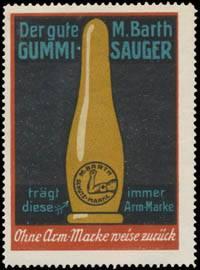 Der gute M. Barth Gummi-Sauger