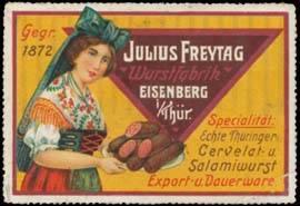 Echte Thüringer Cervelat- und Salamiwurst