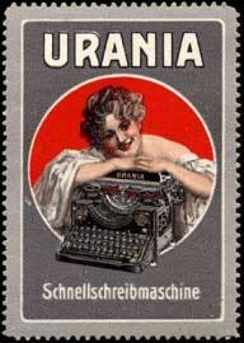 Urania Schreibmaschine für die Frau