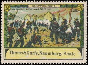 Die Sachsen beim Sturm auf St. Privat