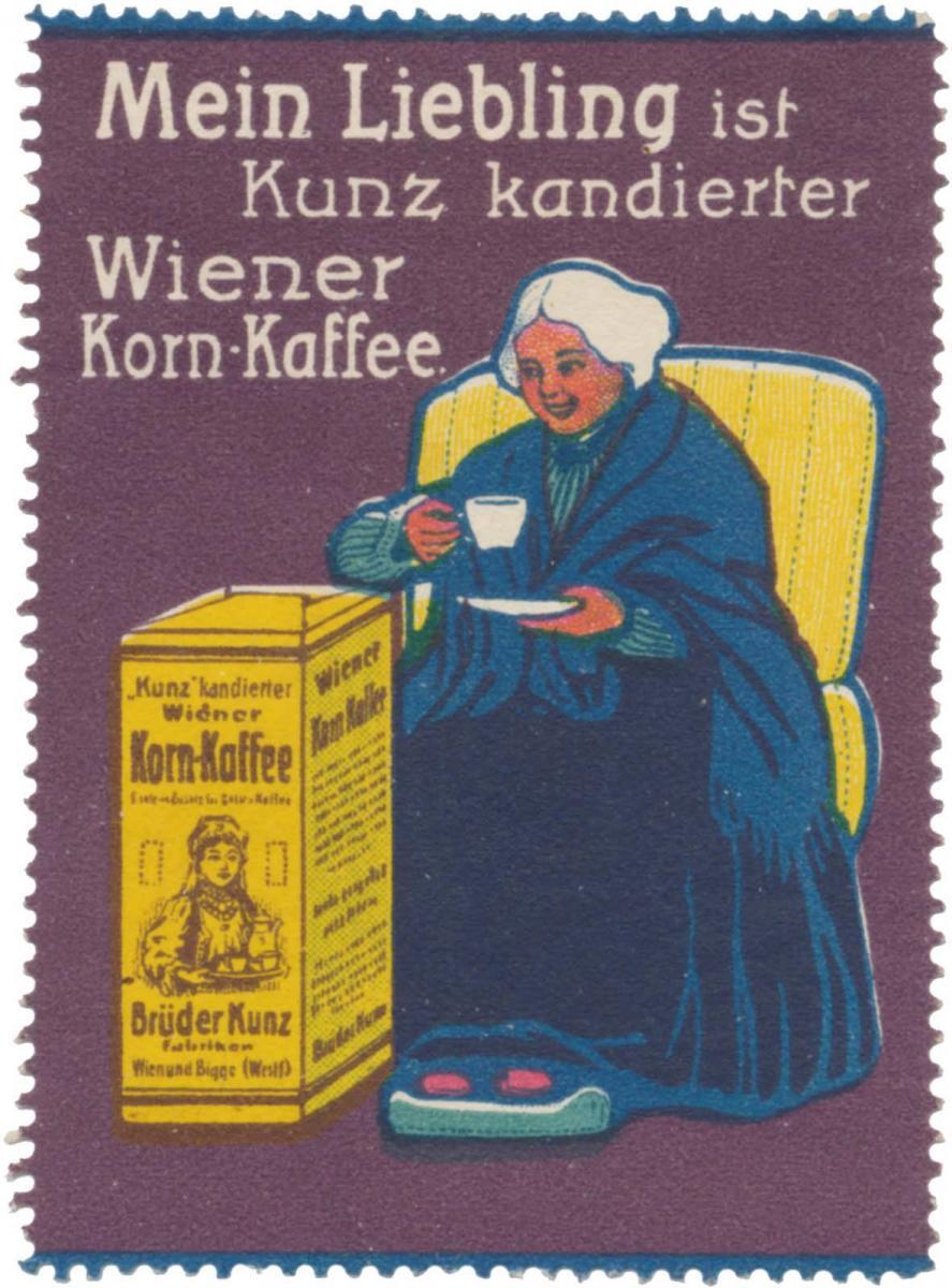 Mein Liebling ist Kunz kandierter Wiener Korn-Kaffee