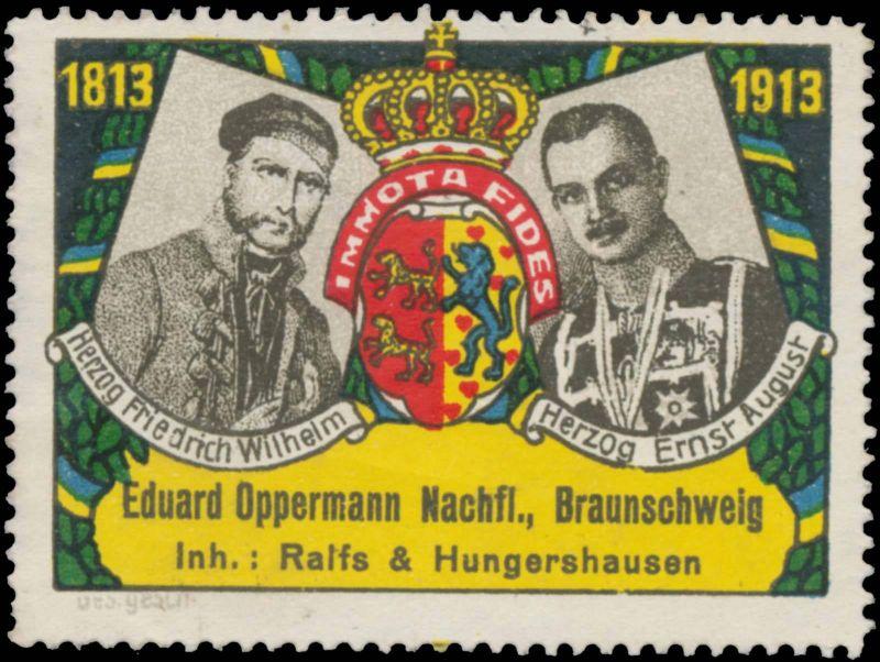Herzog Friedrich Wilhelm - Herzog Ernst August 1813-1913