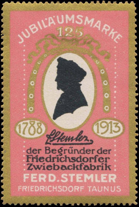 Jubiläumsmarke 125 Jahre Zwiebackfabrik