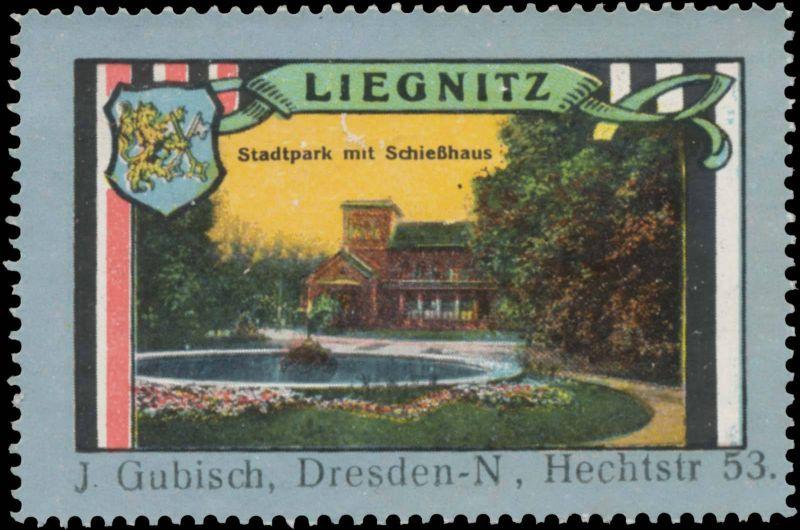 Stadtpark mit Schießhaus in Liegnitz