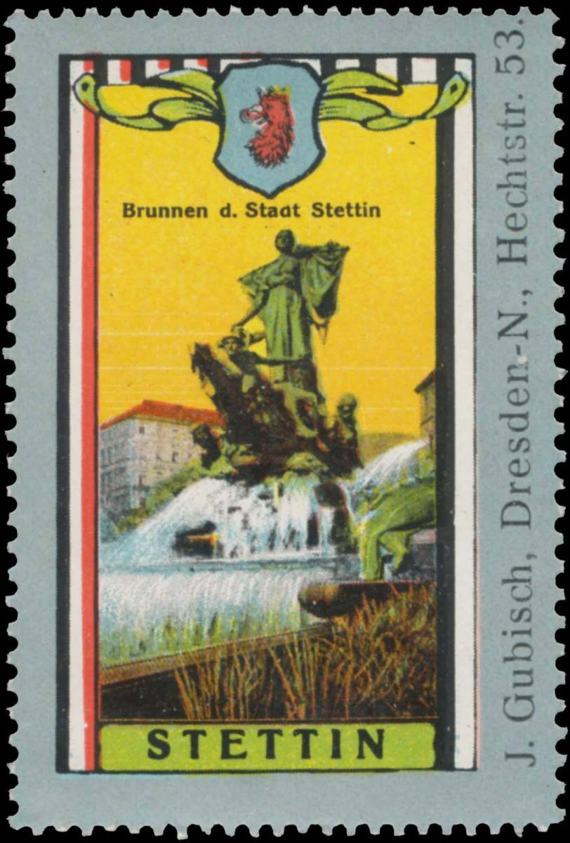 Brunnen der Stadt Stettin
