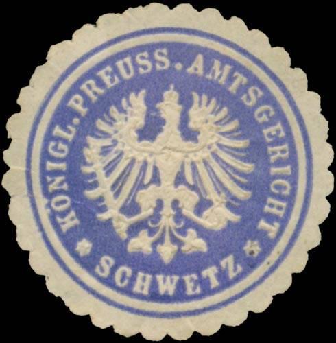 K.Pr. Amtsgericht Schwetz/Westpreußen
