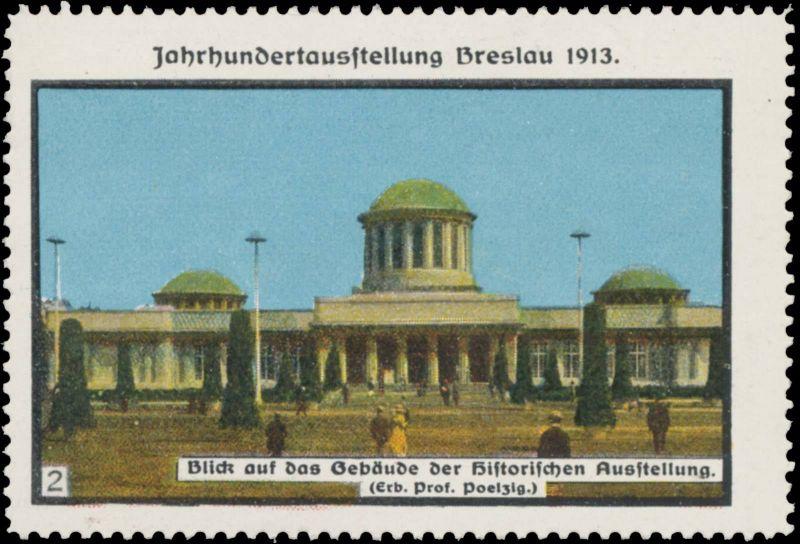Blick auf das Gebäude der historischen Ausstellung