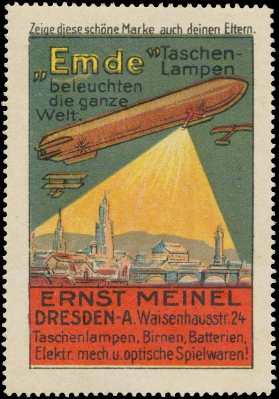 Zeppelin - Emde Taschenlampen beleuchten die ganze Welt