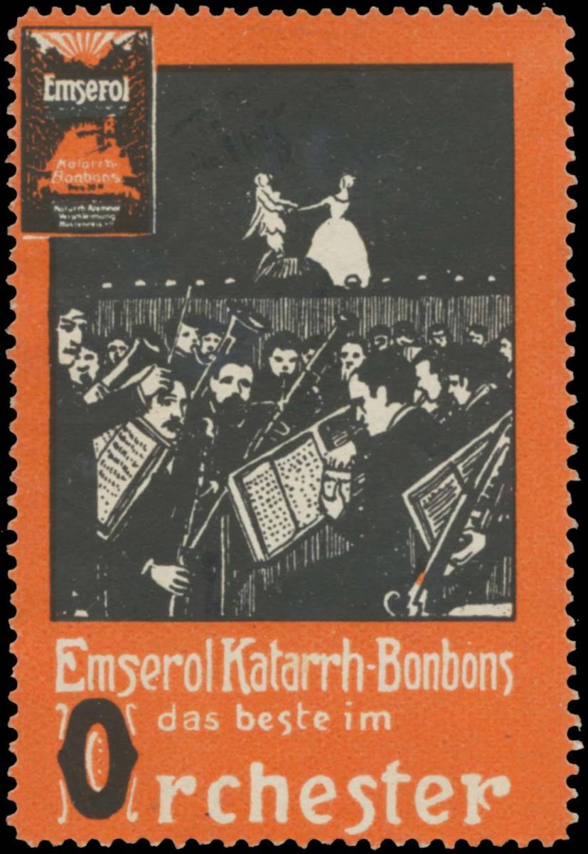 Emserol Katarrh-Bonbons ist das beste im Orchester