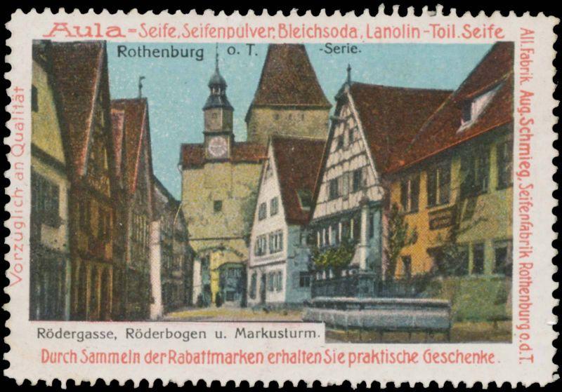 Rödergasse, Röderbogen und Markusturm