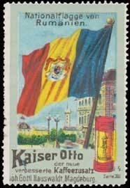 Nationalflagge von Rumänien - Kaiser-Otto Kaffee-Zusatz