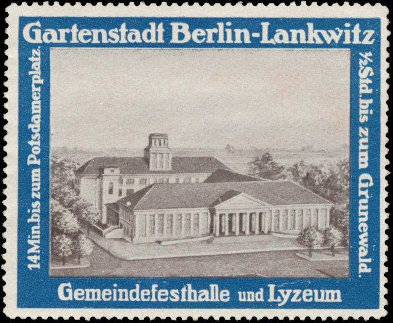 Gemeindefesthalle und Lyzeum 0