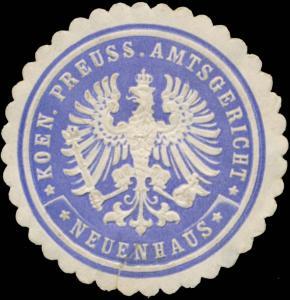Koen.Pr. Amtsgericht Neuenhaus