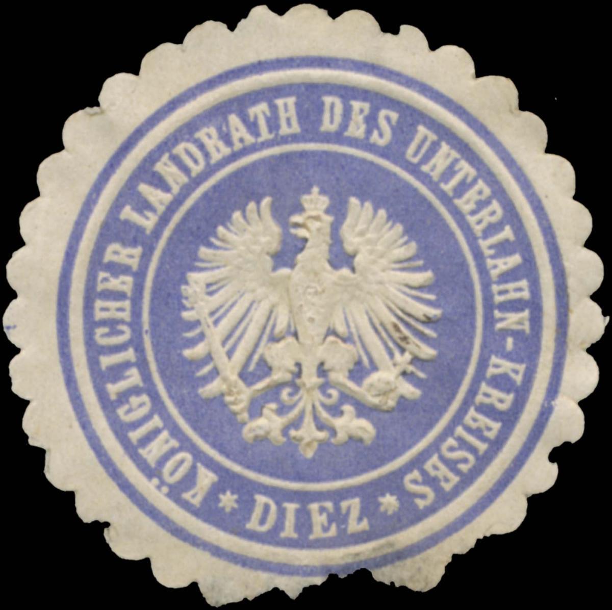 K. Landrath des Unterlahn-Kreises Diez 0