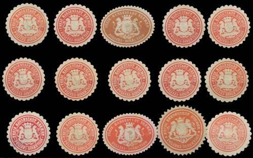 Polizei Bremen Sammlung Siegelmarken