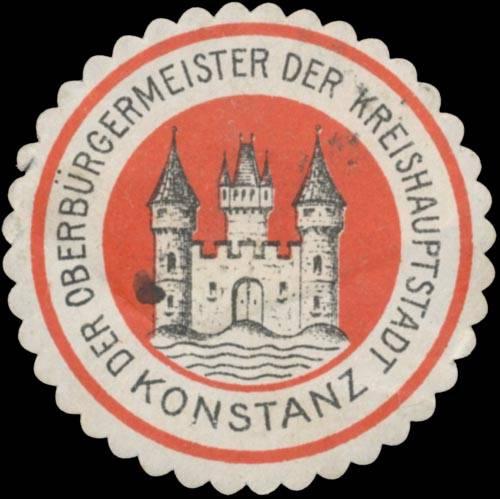 Der Oberbürgermeister der Kreishauptstadt Konstanz