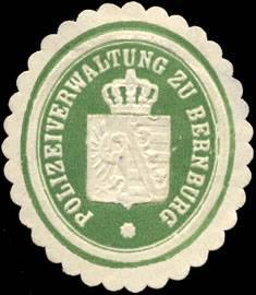 Polizeiverwaltung zu Bernburg