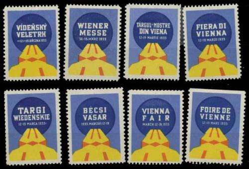 Messe Wien 1933 Sammlung Reklamemarken