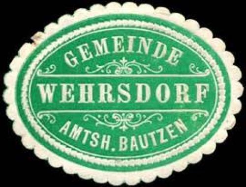 Gemeinde Wehrsdorf - Amtshauptmannschaft Bautzen