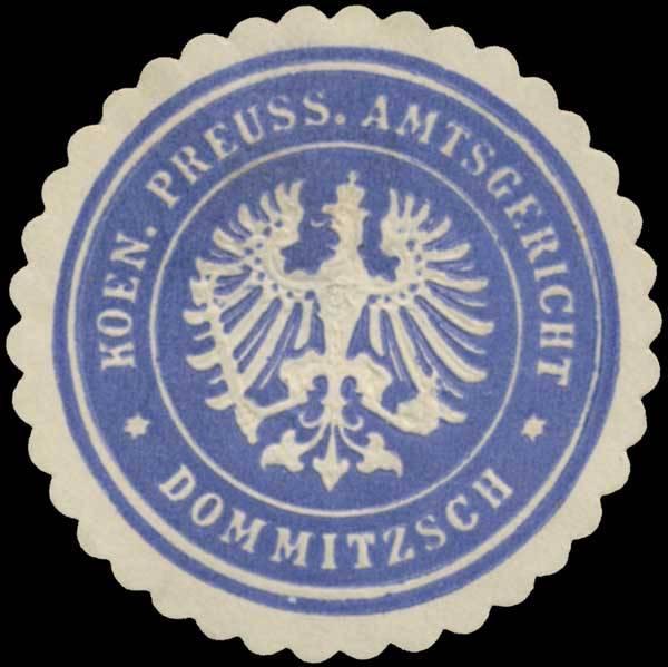 K.Pr. Amtsgericht Dommitzsch