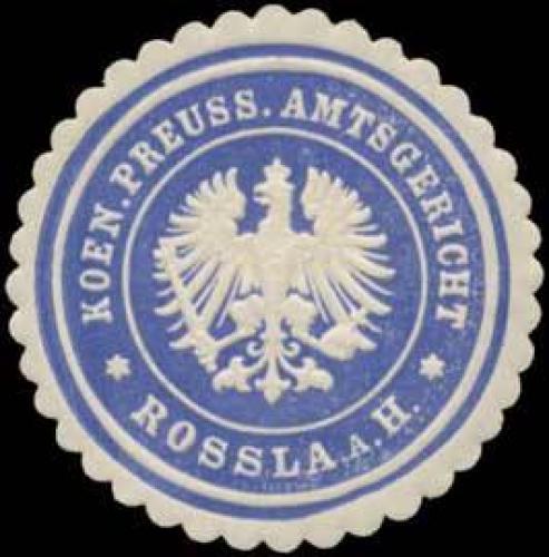 K.Pr. Amtsgericht Roßla am Harz