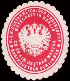 K.u.K. Oesterreichisch Ungarische Botschaft in Berlin