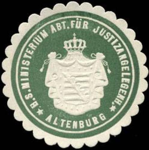 H. S. Ministerium Abteilung für Justizangelegenheiten - Altenburg