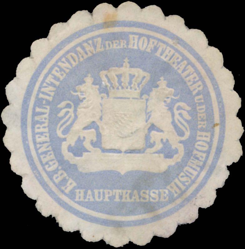 K.Bayer. General-Intendanz der Hoftheater und der Hofmusik