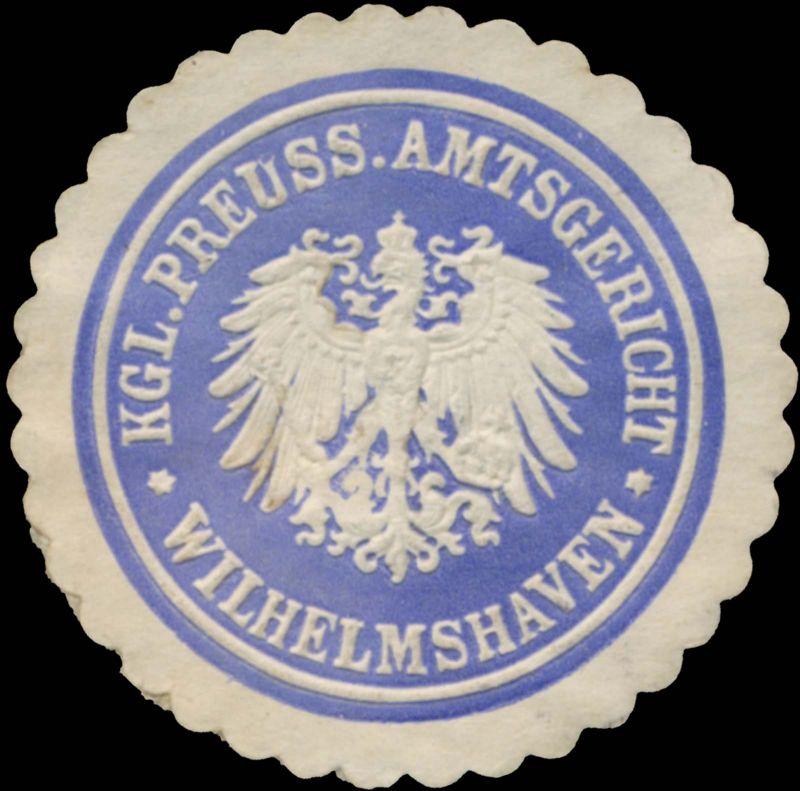 K.Pr. Amtsgericht Wilhelmshaven